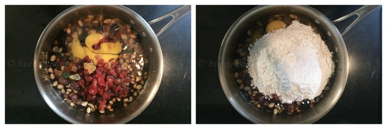 boiled fruit cake preparation