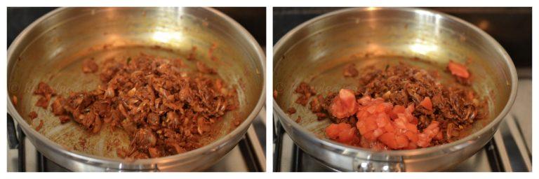 Sautéing onion