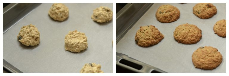 Baking the oats cookies