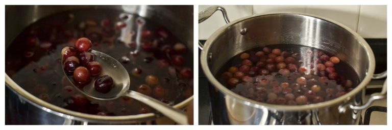 boiled grapes
