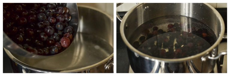 boiling grapes
