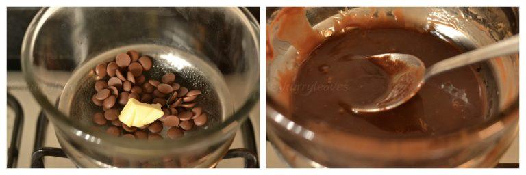 preparing chocolate glaze