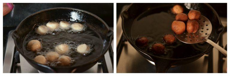frying doughnut holes