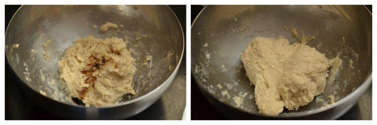 eggless dough nut kneading dough