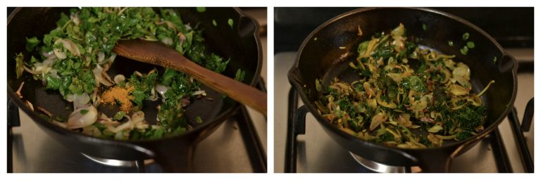 moringa and egg Thoran