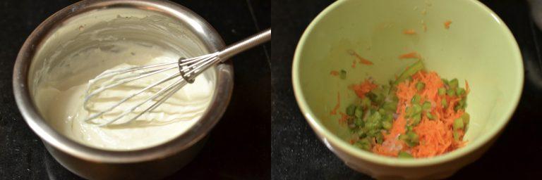 yogurt dip prep
