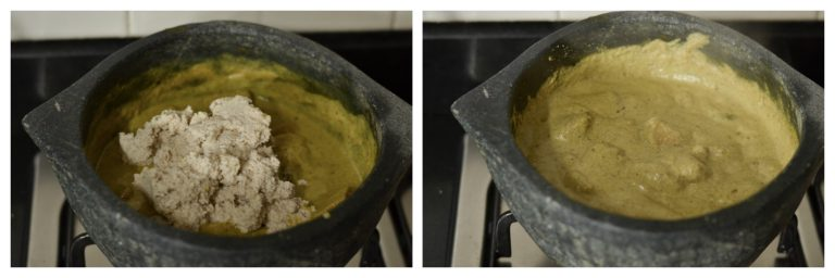 Adding coconut paste