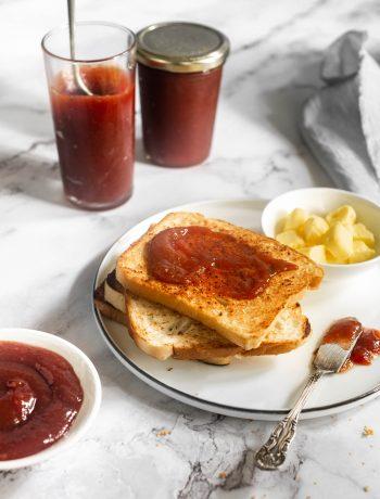 homemade mixed fruit jam